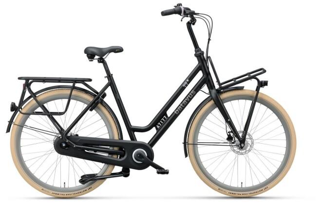 Citybike Batavus Quip Extra Cargo Curve black matt 2019