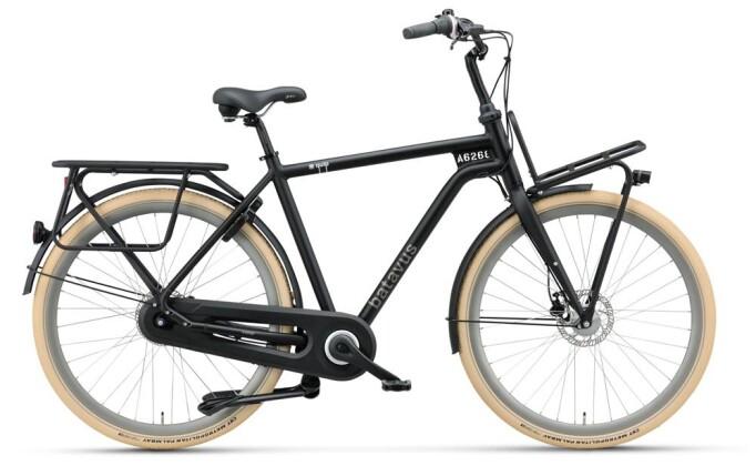 Citybike Batavus Quip Extra Cargo Herren black matt 2019