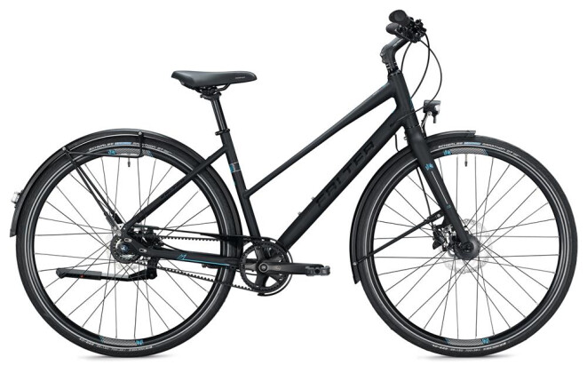 Urban-Bike Falter U 7.0 Trapez / black-light blue 2020