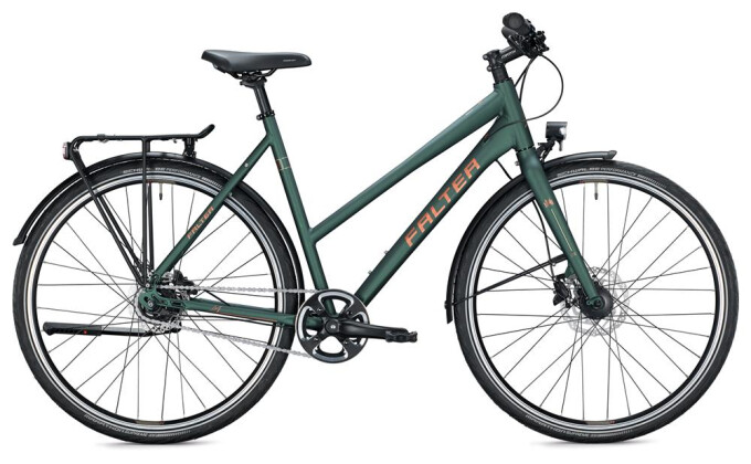 Urban-Bike Falter U 6.0 Trapez / dark green-gold 2020