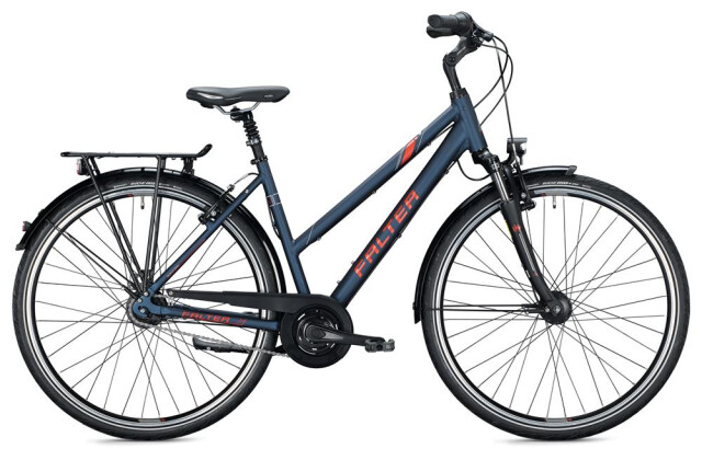 Citybike FALTER C 5.0 Trapez / blue-red 2020