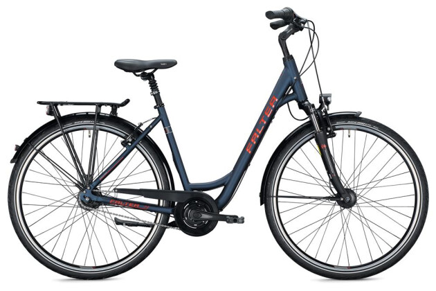 Citybike Falter C 5.0 Wave / blue-red 2020