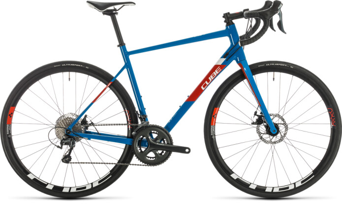 Rennrad Cube Attain Race blue´n´red 2020