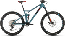 Mountainbike Cube Stereo 140 HPC Race 27.5 bluegrey´n´red