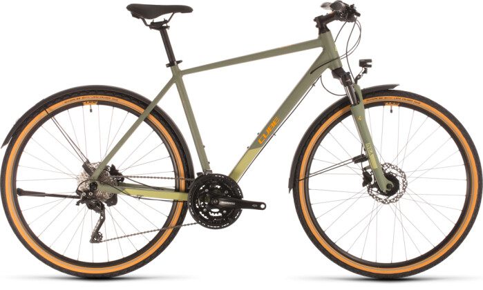 Urban-Bike Cube Nature EXC Allroad green´n´orange 2020