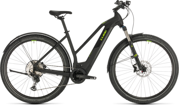 E-Bike Cube Cross Hybrid Race 625 Allroad black´n´green 2020