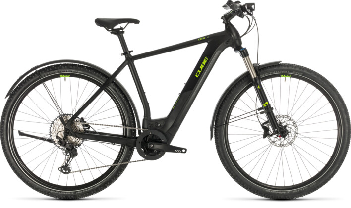 E-Bike Cube Cross Hybrid Race 625 Allroad black´n´green 2020