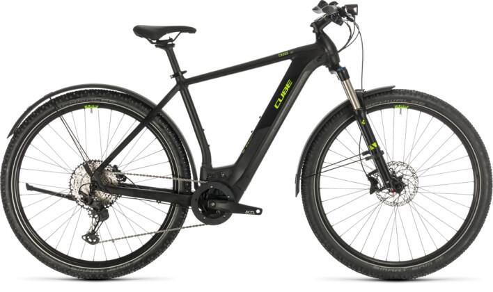 E-Bike Cube Cross Hybrid Race 500 Allroad black´n´green 2020
