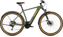 E-Bike Cube Cross Hybrid Pro 625 Allroad green´n´orange