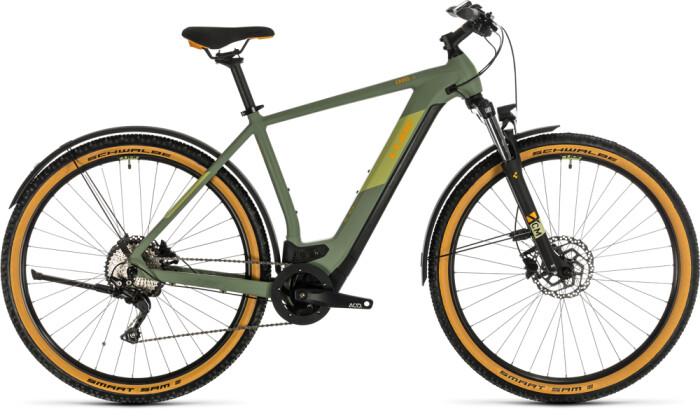 E-Bike Cube Cross Hybrid Pro 625 Allroad green´n´orange 2020