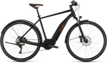 E-Bike Cube Nature Hybrid EXC 500 Allroad black´n´red