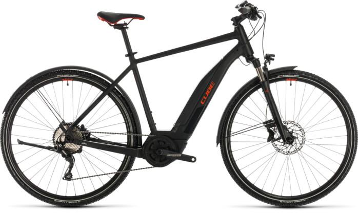 E-Bike Cube Nature Hybrid EXC 500 Allroad black´n´red 2020