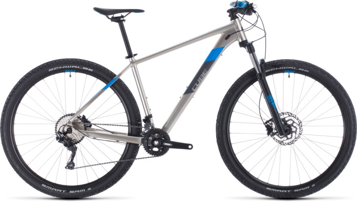 Mountainbike Cube Attention titanium´n´blue 2020