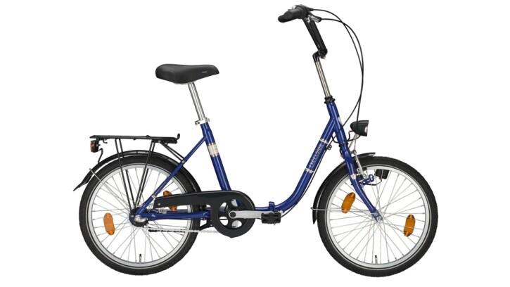 Faltrad Excelsior Klapprad blau 2020