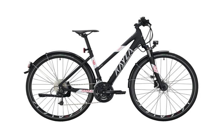 Trekkingbike KAYZA NITI  DRY 6 schwarz,weiß 2020