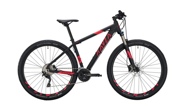 Mountainbike KAYZA GARUA 8 schwarz,rot 2020