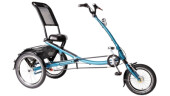 Tandem Pfau-Tec Scooter Trike blau
