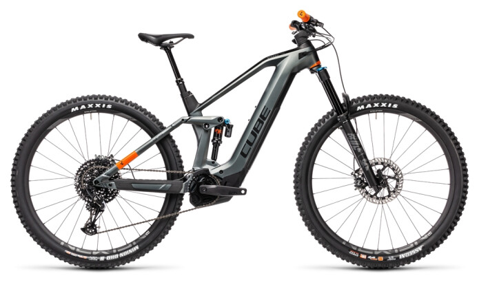 e-Mountainbike Cube Stereo Hybrid 140 HPC TM 625 flashgrey´n´orange 2021