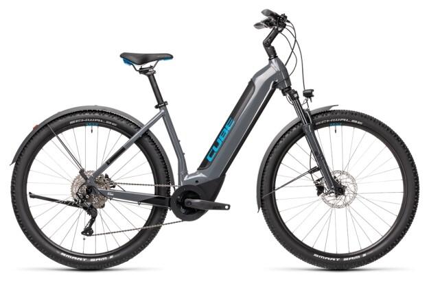 e-Mountainbike Cube Nuride Hybrid Pro 625 Allroad grey´n´blue 2021