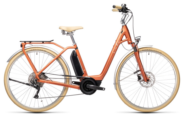 e-Citybike Cube Ella Ride Hybrid 400 red´n´grey 2021