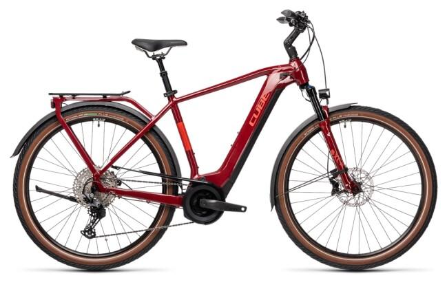 e-Trekkingbike Cube Touring Hybrid EXC 625 red´n´grey 2021