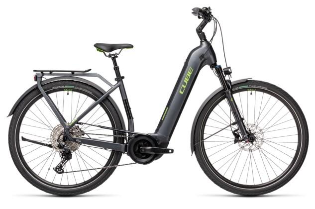 e-Trekkingbike Cube Touring Hybrid EXC 625 iridium´n´green 2021