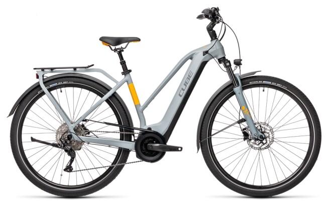 e-Trekkingbike Cube Touring Hybrid Pro 625 grey´n´orange 2021