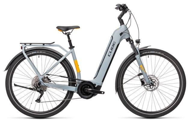e-Trekkingbike Cube Touring Hybrid Pro 500 grey´n´orange 2021