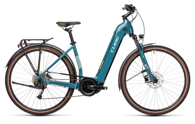 e-Trekkingbike Cube Touring Hybrid ONE 625 blue´n´green 2021