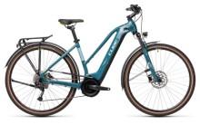 e-Trekkingbike Cube Touring Hybrid ONE 400 blue´n´green