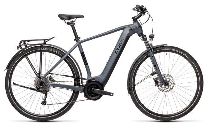 e-Trekkingbike Cube Touring Hybrid ONE 625 grey´n´black 2021