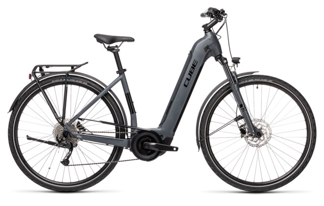 e-Trekkingbike Cube Touring Hybrid ONE 500 grey´n´black 2021