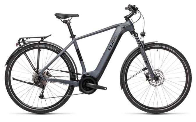 e-Trekkingbike Cube Touring Hybrid ONE 500 grey´n´black 2021