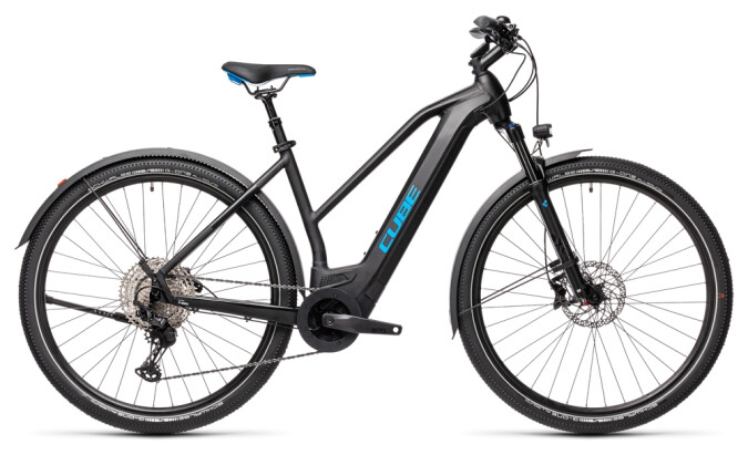 e-Crossbike Cube Cross Hybrid Race 625 Allroad black´n´blue 2021