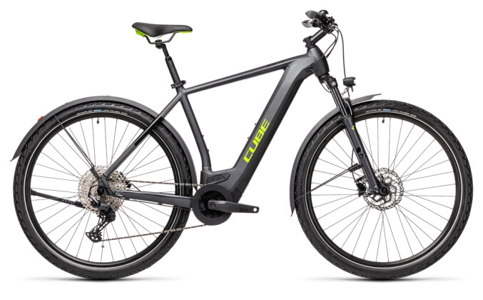 e-Mountainbike Cube Cross Hybrid Pro 500 Allroad iridium´n´green 2021
