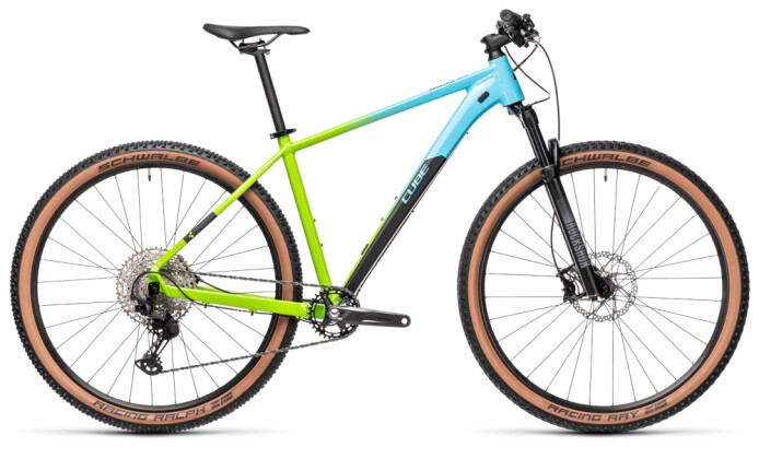 Mountainbike Cube Reaction Pro fadingblue´n´green 2021