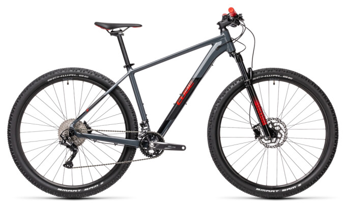 Mountainbike Cube Attention grey´n´red 2021