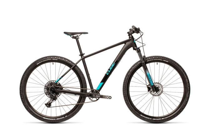 Mountainbike Cube Analog black´n´petrol RS 2021