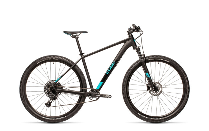 Mountainbike Cube Analog black´n´petrol 2021