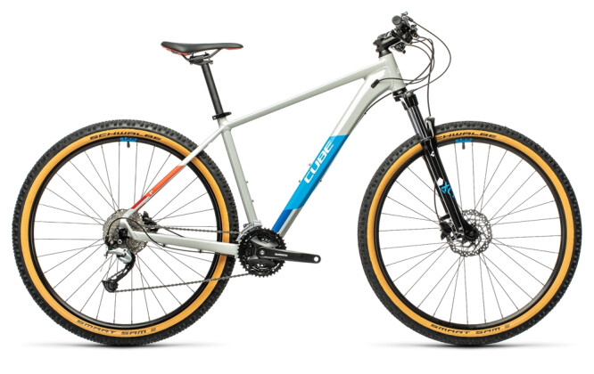 Mountainbike Cube Aim SL grey´n´blue´n´red 2021