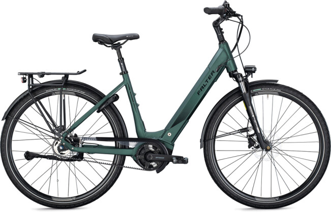 e-Citybike FALTER E 9.8 FL Wave dark green 2021