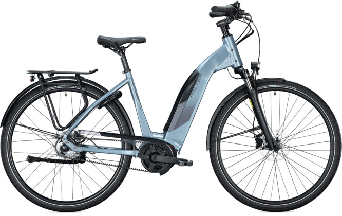 e-Citybike FALTER E 9.5 RT Wave steel blue 2021