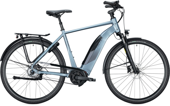 e-Citybike FALTER E 9.5 FL Diamant steel blue 2021