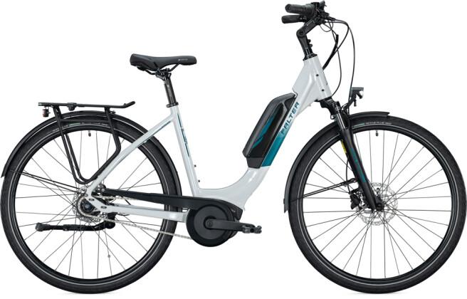 e-Citybike FALTER E 9.0 FL 500 Wave white-turquoise 2021
