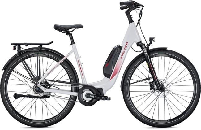 e-Citybike FALTER E 8.2 RT 400 Wave white-bordeaux 2021