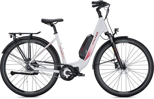 e-Citybike FALTER E 8.2 FL 400 Wave white-bordeaux 2021