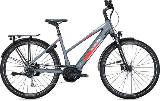 e-Trekkingbike MORRISON E 7.0 Trapez anthracite-white 2021
