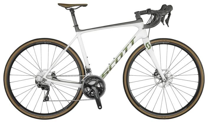 Race Scott Addict 20 Disc Bike Pearl White 2021