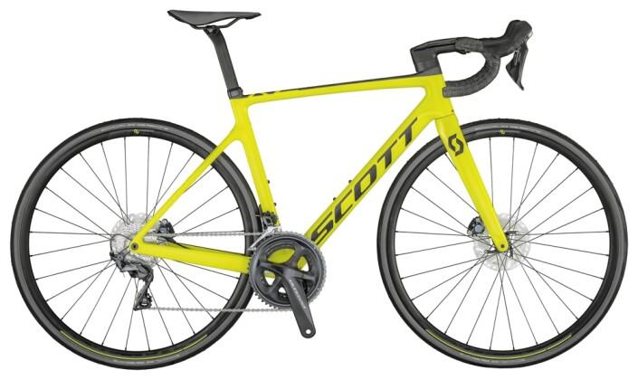 Race Scott Addict RC 30 Bike Yellow 2021