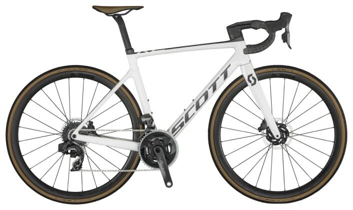 Race Scott Addict RC 10 Bike Pearl White 2021